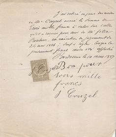 ~ 1887 French letter with stamp from Petit Brocante on Etsy