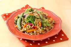 Veggie-Loaded Quinoa Stir Fry | Recipes for Healthy Meals, Low-Calorie Snacks & More | Hungry Girl