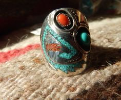 size 11 rare ring Native American ring Native American Jewelry southwest jewelry pow wow turquoise jewelry mens rings quarter horse Texas by LittleCherokeeValley on Etsy