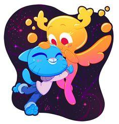 The amazing world of gumball. Gumball and penny Cartoon Kunst, Cartoon Art, Cartoon Characters, Cartoon Illustrations, Cartoon Memes, Cartoon Drawings, Wallpapers Geek, Cartoon Ships, Cartoon Network Shows