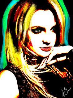 Britney Spears Super Star Pop Art