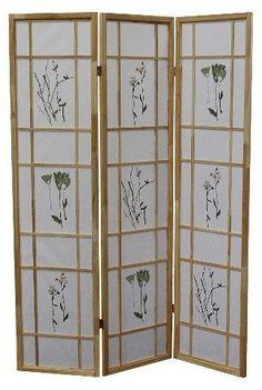 Ore International 3 Panel Room Divider Natural
