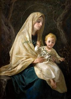 David Beghè — Madonna of White Mantle, 1919 Divine Mother, Blessed Mother Mary, Blessed Virgin Mary, Catholic Art, Catholic Saints, Religious Images, Religious Art, Immaculée Conception, Hail Holy Queen