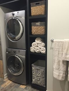 Laundry room decorating ideas to help organize your small room 3 Modern Laundry Rooms, Laundry Room Layouts, Laundry Room Remodel, Laundry Room Cabinets, Laundry Room Organization, Laundry Room Design, Laundry In Bathroom, Organization Ideas, Storage Ideas
