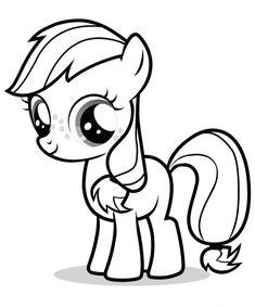 Gambar Kuda Poni Hitam Putih : gambar, hitam, putih, Contoh, Gambar, Mewarnai, KataUcap