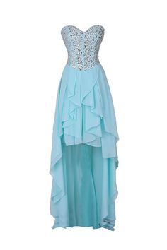 Classic A-line Sweetheart Hi-lo Chiffon Homecoming/Prom Dress With Beads HCL0001 | BGCP