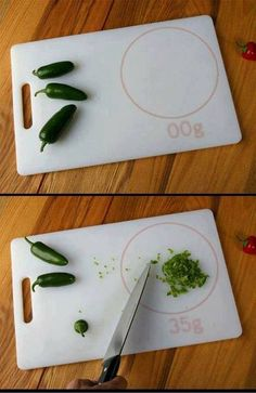 Cutting board that weights.