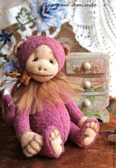 Чуча - фуксия, Плюшевый мишка, обезьянка, обезьяна, мишка тедди, друзья тедди, мишка