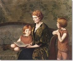 Reading redheads. Lilla Cabot Perry.