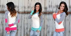 Lightweight and so soft! We love these colored patch sweaters! 5 different colors to choose from and only $19.99!