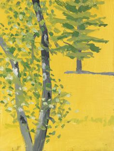 Alex Katz (American, b. 1927), Trees, 2002. Oil on panel, 30 x 23 cm.