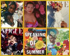 Proud #SpeakingOfSummer joins wave Carl Van Vechten tried to start with #BillieHoliday: placing royal bouquets- crowns- on African American women's heads, after all. Clockwise: work by Carrie Mae Weems, Carl Van Vechten, Tyler Mitchell, Tiffany Gholar, Jaya Micelli, Nick Knight. #SummerBook by @NLCaputo and @SheDesignsBooks.  #GirlPower #Women #BlackWomen #BlackBeauty  #FlowerCrowns #SheDesignsBooks #ArtistsInConversation