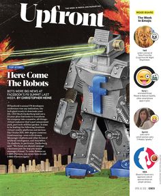 Client: ADWEEK (April 18 2016 issue)  Title: Facebook bots are coming