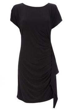 Black Jersey Side Frill Dress - love this