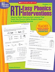 Week-by-Week Reproducible Lessons That Teach Key Phonics Skills Students Need to Achieve Reading Success    By Kama Einhorn    Fulfills the requirements of RTI, Tier 2 Reach struggling readers with this 12-week collection of research-based phonics intervention activities