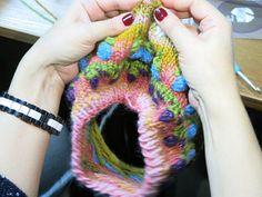 Puff Color Knitting - авторская техника Лены Родиной. Фото с мастер-класса.