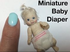 HOW TO MAKE Realistic Miniature Baby Diaper Nappy Disposable Dollhouse Video…