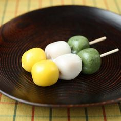 Japanese sweets, Dango (dumpling made from mochiko (rice flour)