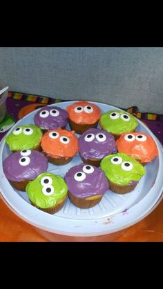 Cuter than cute monster cupcakes for Halloween