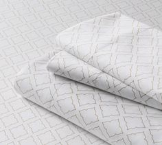 300-count No Iron Sateen Cameo Sheet Set or Pillowcase from Lands' End