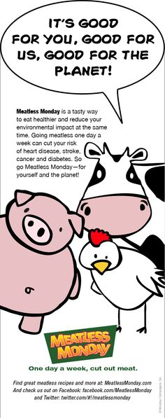 A # meatless Monday poster with our barnyard friends :) – Flexitarian Diet Ways To Eat Healthy, Healthy Living Tips, Healthy Eating, Beet Green Recipes, Broccoli Crust Pizza, Curried Couscous, Vegetarian Protein Sources, Greek Turkey Burgers, Bean Burritos