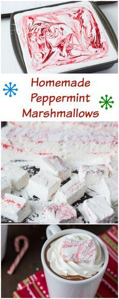 Homemade peppermint marshmallows go hand in hand with homemade peppermint hot cocoa! #EatConfidently
