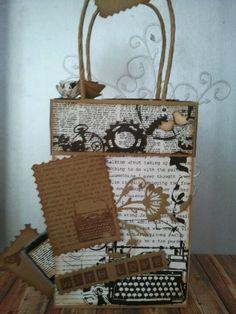 Bolsa decorada para regalar