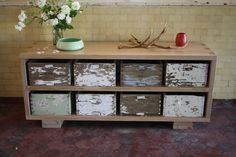 Upcycled Bee Box Sideboard....I don't know where I would put this yet, but I now know a use for dads old hive boxes!
