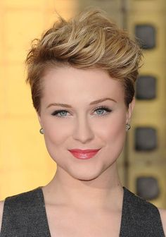 Evan Rachel Wood's Nouveau Mohawk Pinterest Short Hairstyles, Short Hairstyles 2015, Pixie Hairstyles, Pixie Haircuts, Medium Hairstyles, Easy Hairstyles, Casual Hairstyles, Latest Hairstyles, Wedding Hairstyles