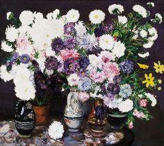 Csók István 1865-1961 Crisantems (Flower Still - by Kieselbach Gallery