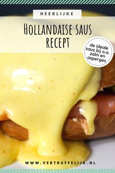 Hollandaise saus Hollandaise Sauce, Sous Vide, Health Facts, Starters, Pesto, Dressings, Dips, Brunch, Homemade
