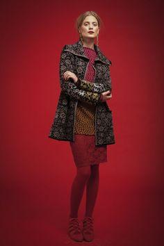 Oleana Alpaca Long Cardigan with Collar Design 414-O, Pullover Tunic Design 197-K, Scarf Design 193-K, Wristlets Design 194-K, Oleana Norwegian Sweaters, Blankets