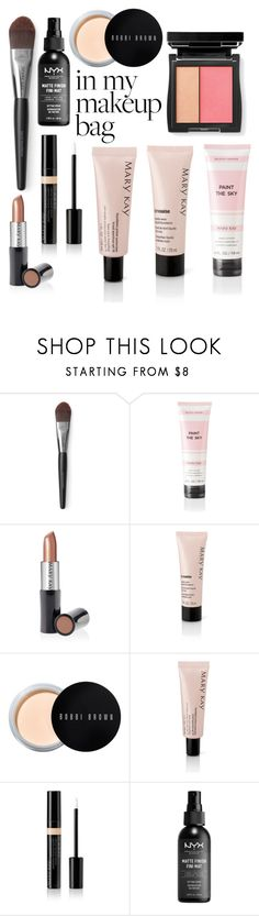 """In My Makeup Bag"" by o-p-backe ❤ liked on Polyvore featuring beauty, Mary Kay, Bobbi Brown Cosmetics and NYX"