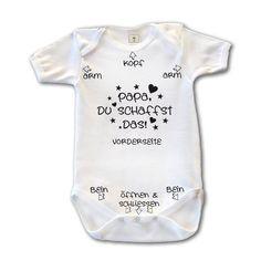 Papa Du schaffst das! Baby Body Suit Strampler