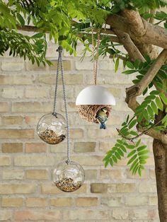 Buy Eva Solo Bird Feeder, Set of 2 from our Wild Bird Care range at John Lewis & Partners. Modern Bird Feeders, Best Bird Feeders, Diy Bird Feeder, Hanging Bird Feeders, Carpenter Bee Trap, Bee Traps, Small City Garden, Small Gardens, Bird Feeding Station