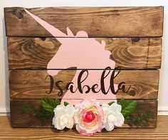 Unicorn personalized nursery sign Unicorn personalized