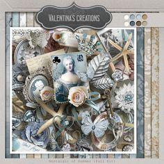 Nostalgic of Summer {Kit} - by Valentina`s Creations #studio #valentina #digiscrap