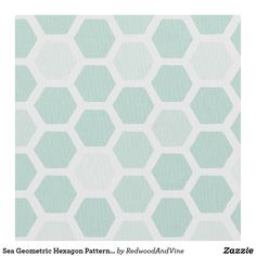 Sea Geometric Hexagon Pattern // Any Color Fabric