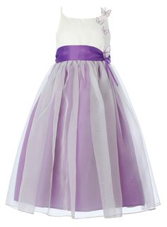 Lela Butterfly Purple Bridesmaid Dress - child dresses - young bridesmaids -