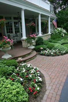 Beautiful Front Yard Pathway Landscaping Ideas Front yard walkway andFront yard walkway and Front Porch Landscape, Front Yard Walkway, Small Front Yard Landscaping, Front Yard Design, House Landscape, Outdoor Landscaping, Outdoor Gardens, Landscape Design, Landscaping Ideas