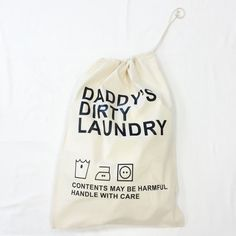 Perfect Father's Day gift! Personalised Dirty Laundry Bag #laundry #personalisedgifts #jual  #bagsatjual £14.99 at personalisedgifts.jual.co.uk ❤️✌️#fathersday #fathersdaygifts