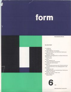 FORM cover.