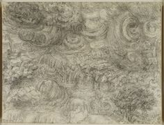 Leonardo da Vinci (Vinci 1452-Amboise 1519) - A deluge. Bequeathed to Francesco Melzi; from whose heirs purchased by Pompeo Leoni, c.1582-90; Thomas Howard, 2nd Earl of Arundel, by 1630; Probably acquired by Charles II; Royal Collection by 1690