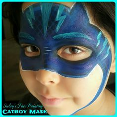 Cat boy PJ's face painting