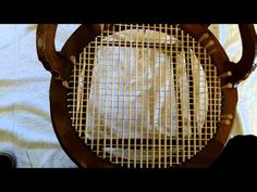 ▶ How to Weave a Round Seat Using Strand Cane - YouTube