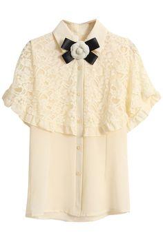 lace blouse - romwe
