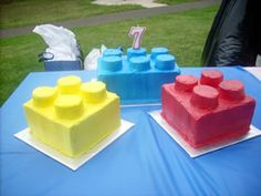 How simple, Lego cakes