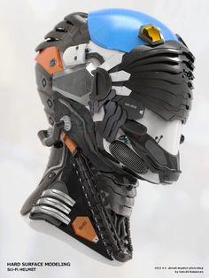 Helmet Concept 1 Helmet Concepts for 2016 I wish I could buy today Más Futuristic Helmet, Futuristic Armour, Character Concept, Character Art, Character Design, Robot Design, Helmet Design, Mask Design, Armor Concept