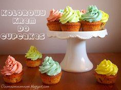 Ooomnomnomnom !: Kolorowy krem do cupcakes z serka mascarpone - dek...