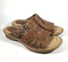 2024f513ae (eBay Advertisement) M4782 New Women s Earth Willow Alpaca Leather Slide Sandals  US 10 M